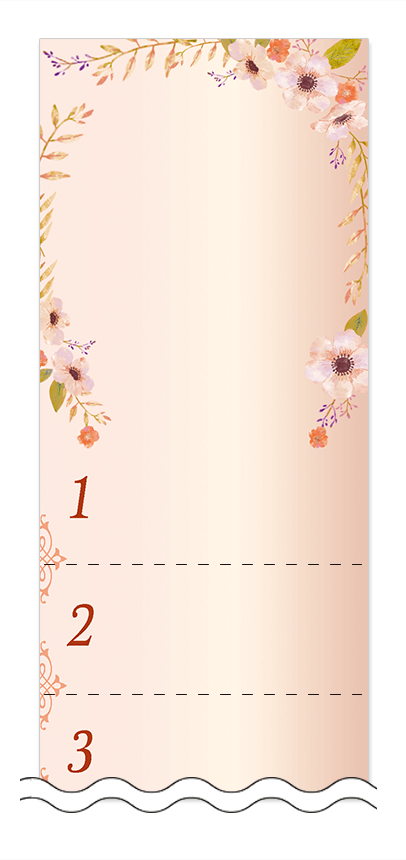 フリーデザイン「美容・ビューティー」回数券テンプレート画像0103