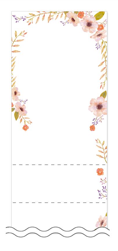 美容・ビューティーの回数券 6枚綴りデザインテンプレート0104
