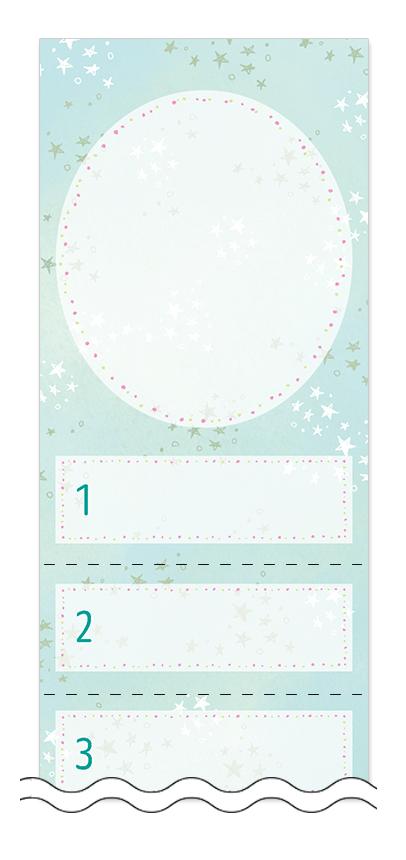 美容・ビューティーの回数券 6枚綴りデザインテンプレート0113