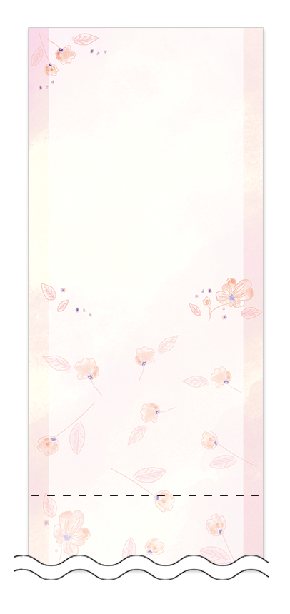 美容・ビューティーの回数券 6枚綴りデザインテンプレート0120