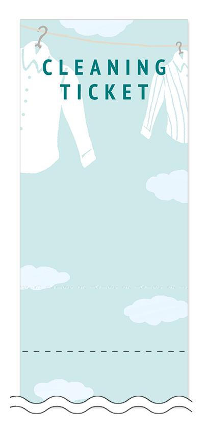 ワイシャツの回数券6枚綴りデザインテンプレート0014