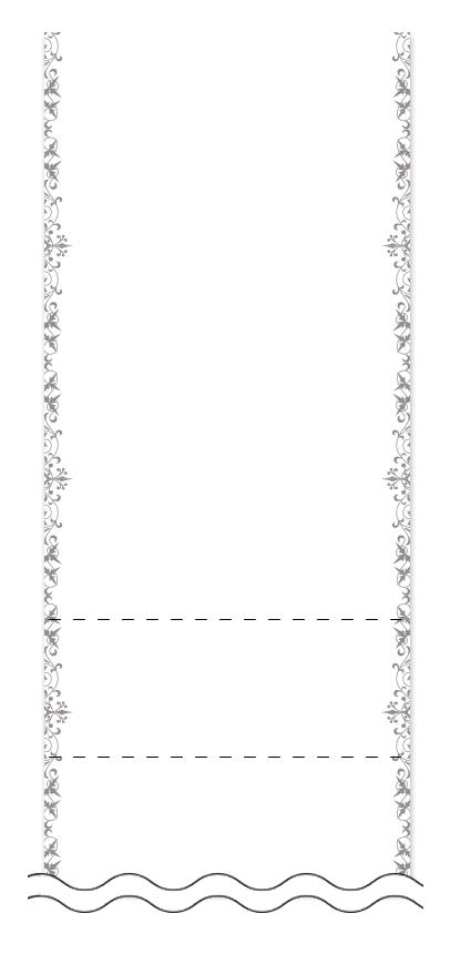 ウラ面の回数券6枚綴りデザインテンプレート0002