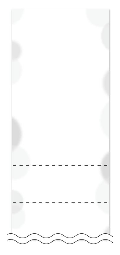 ウラ面の回数券6枚綴りデザインテンプレート0003