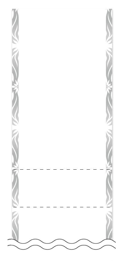 ウラ面の回数券6枚綴りデザインテンプレート0004