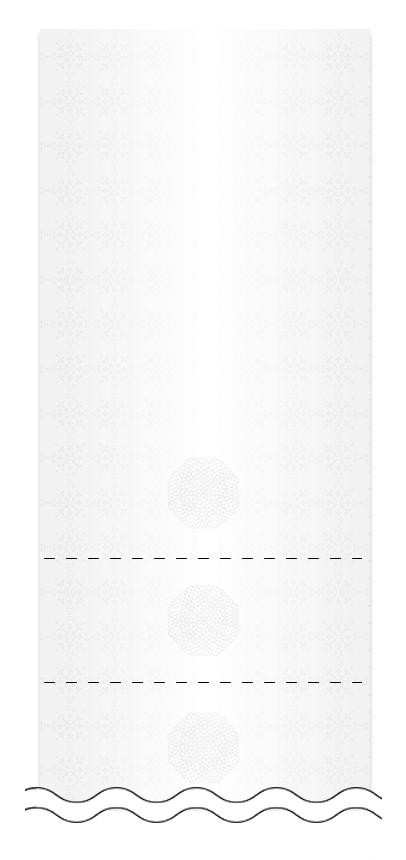 ウラ面の回数券6枚綴りデザインテンプレート0005