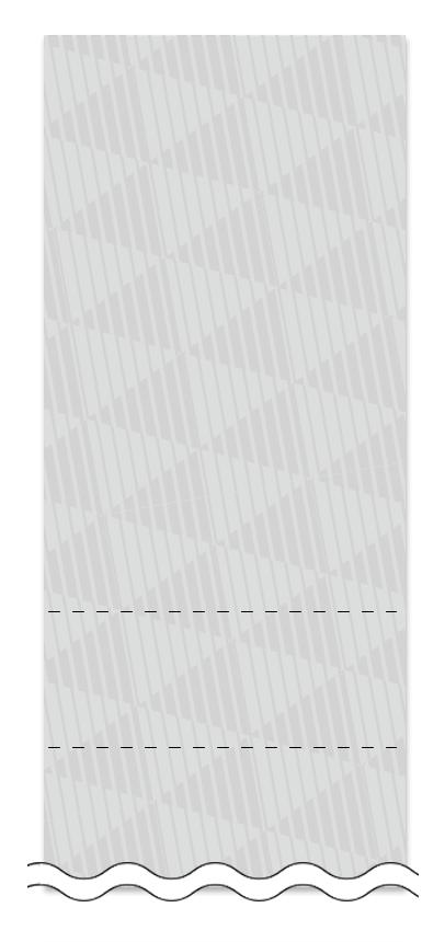 ウラ面の回数券6枚綴りデザインテンプレート0007
