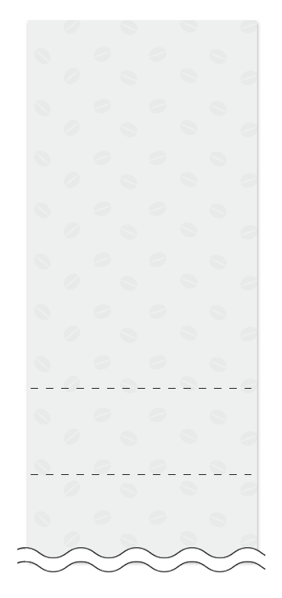 ウラ面の回数券6枚綴りデザインテンプレート0009