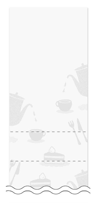 ウラ面の回数券6枚綴りデザインテンプレート0010