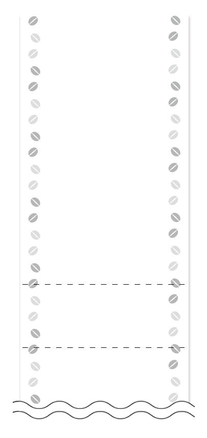 ウラ面の回数券6枚綴りデザインテンプレート0012
