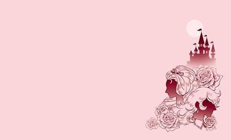 女性イラスト・シルエット ビジネス名刺のデザインテンプレート
