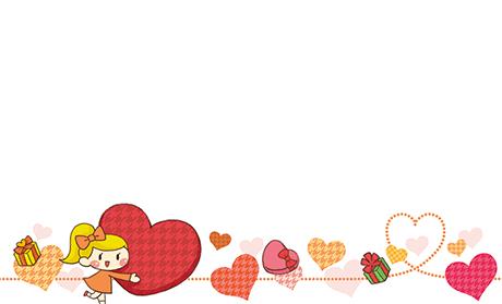 バレンタイン・ハート ビジネス名刺のデザインテンプレート