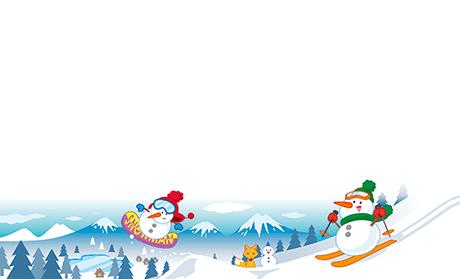 ビジネス名刺(雪・冬)のデザインテンプレート