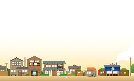 住宅・ビル・街 ビジネス名刺のデザインテンプレート