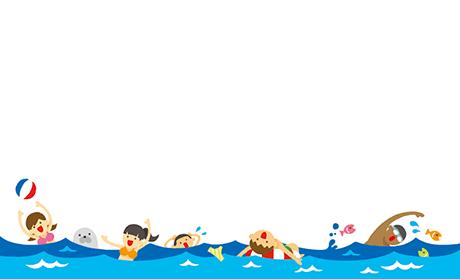 夏・海・夏祭り ビジネス名刺のデザインテンプレート