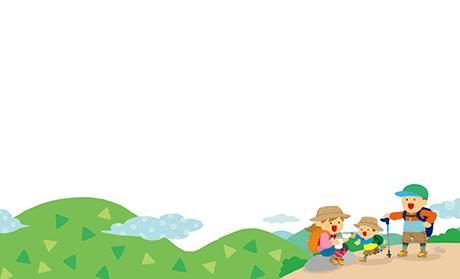 山登り・キャンプ ビジネス名刺のデザインテンプレート