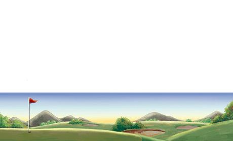 ゴルフ場・ゴルファー ビジネス名刺のデザインテンプレート