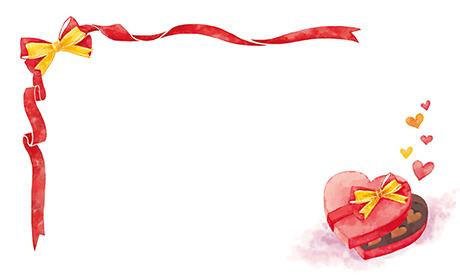 バレンタイン ビジネス名刺のデザインテンプレート