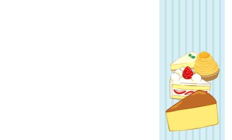パン・スイーツ ビジネス名刺のデザインテンプレート