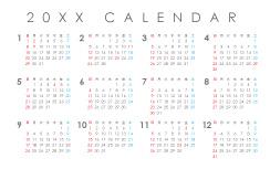 名刺_カレンダーのデザインテンプレート BC-C-0001