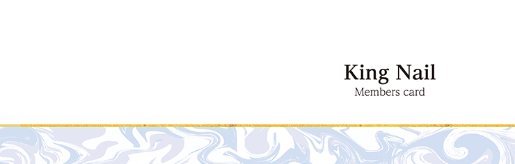 ショップカード 2つ折り_オモテ面(美容)デザインテンプレート0063