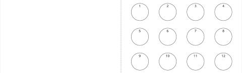 ショップカード 2つ折り(ウラ面)デザインテンプレート0006