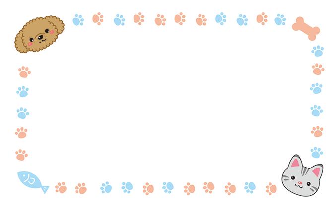 ショップカード(犬+猫)のデザインテンプレート