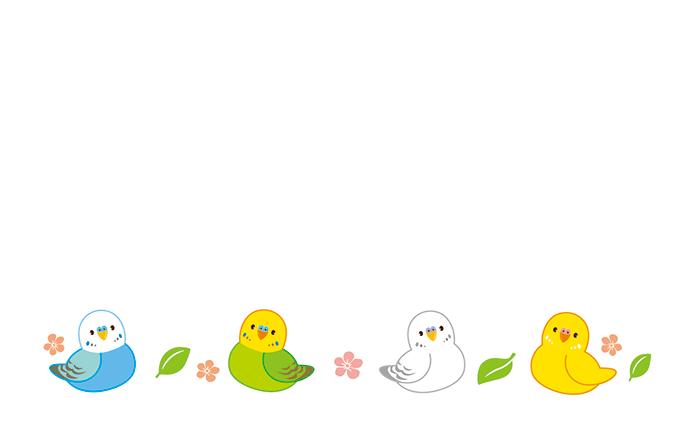 ショップカード(小動物)のデザインテンプレート