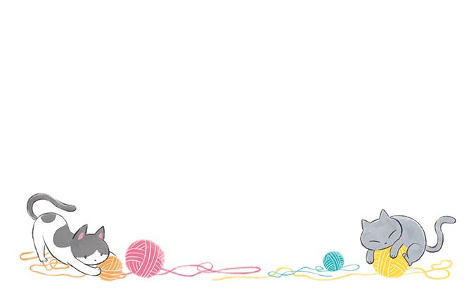 ショップカード(猫)のデザインテンプレート