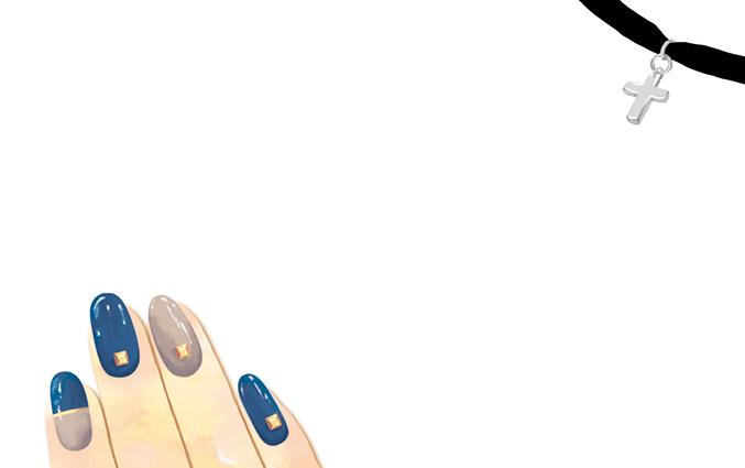 ショップカード(ネイルサロン・まつげエクステ)のデザインテンプレート