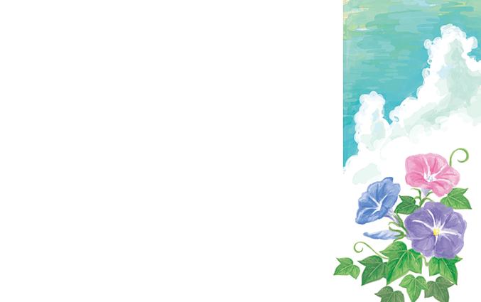 ショップカード(お花・花束・樹木・植物)のデザインテンプレート