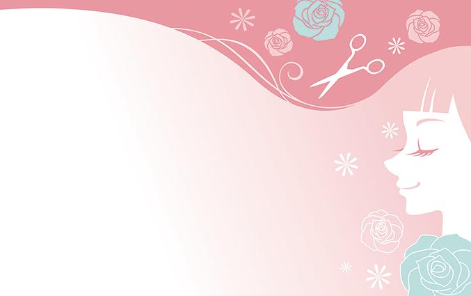 ショップカード(美容室・理容室・ヘアサロン)のデザインテンプレート
