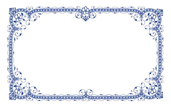 ショップカード(飾り枠・模様など)のデザインテンプレート
