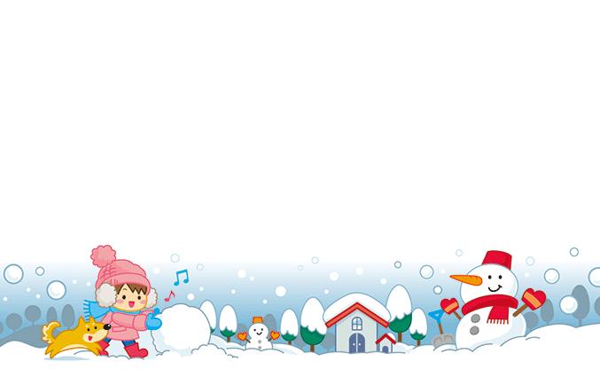ショップカード(氷の結晶・雪景色)のデザインテンプレート