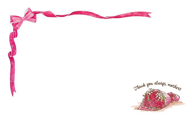 ショップカード(母の日・カーネーション)のデザインテンプレート