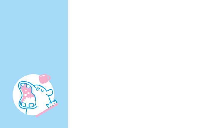ショップカード(歯科医院・歯みがき)のデザインテンプレート