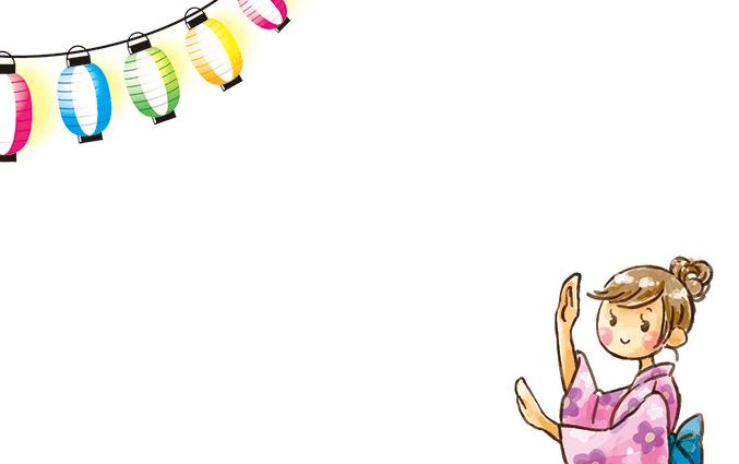 ショップカード(夏・海・涼・金魚)のデザインテンプレート
