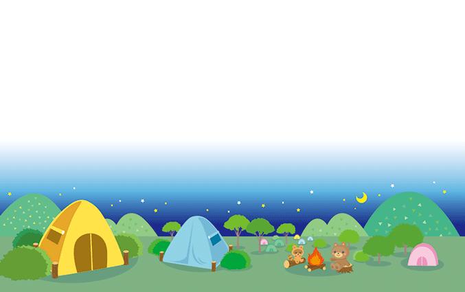 ショップカード(キャンプ・登山)のデザインテンプレート