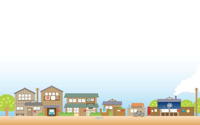 ショップカード(街の風景・都市・住宅)のデザインテンプレート