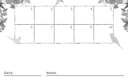 裏面スタンプカード(13X10マス)デザインテンプレート