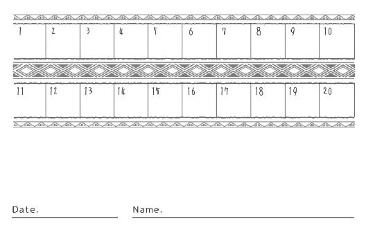 裏面スタンプカード(8X20マス)デザインテンプレート