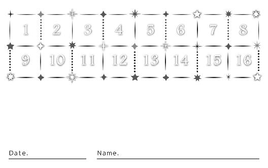 裏面スタンプカード(10X16マス)デザインテンプレート