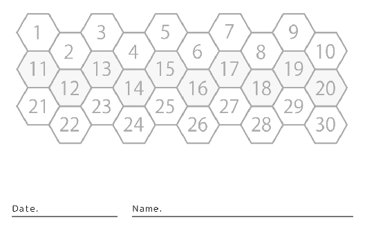 裏面スタンプカード(8X30マス)デザインテンプレート