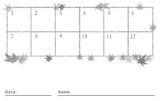 裏面スタンプカード(13X12マス)デザインテンプレート