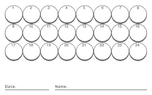 裏面スタンプカード(10X24マス)デザインテンプレート