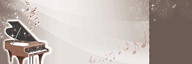 ピアノ・バイオリンなどのチケットSデザインテンプレート0005