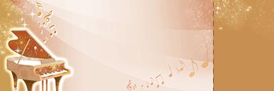 ピアノ・バイオリンなどのチケットSデザインテンプレート0006