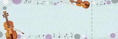ピアノ・バイオリンなどのチケットSデザインテンプレート0018