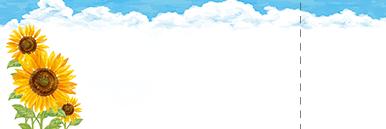 夏・七夕・ひまわり・星空・水族館・イベントのチケットのデザインテンプレート(チケットのデザイン(TS-D-0173))