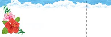 夏・七夕・ひまわり・星空・水族館・イベントのチケットのデザインテンプレート(チケットのデザイン(TS-D-0174))