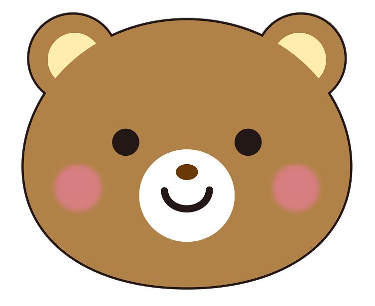 紙うちわ 動物(パンダ・たぬき)デザインテンプレート0019